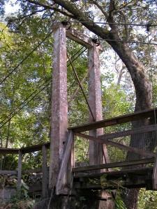 Ravine suspension bridge