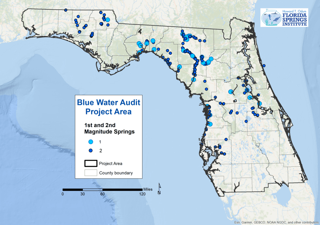 Florida Springs Map Blue Water Audit – Florida Springs Institute