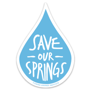 Save Our Springs Water Drop Sticker