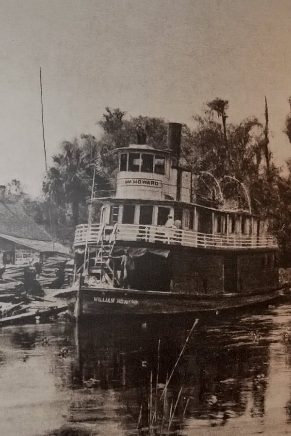 Paddle-Wheel Steam Boat on the Silver River