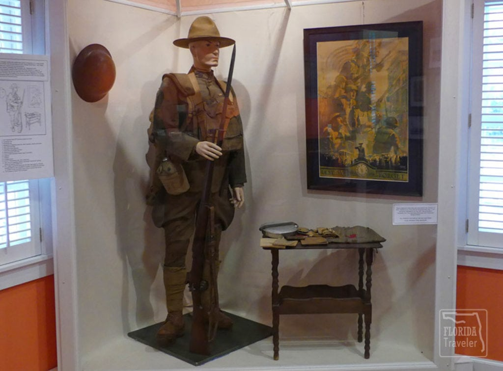Exhibit of World War I Soldier in Mandarin Museum