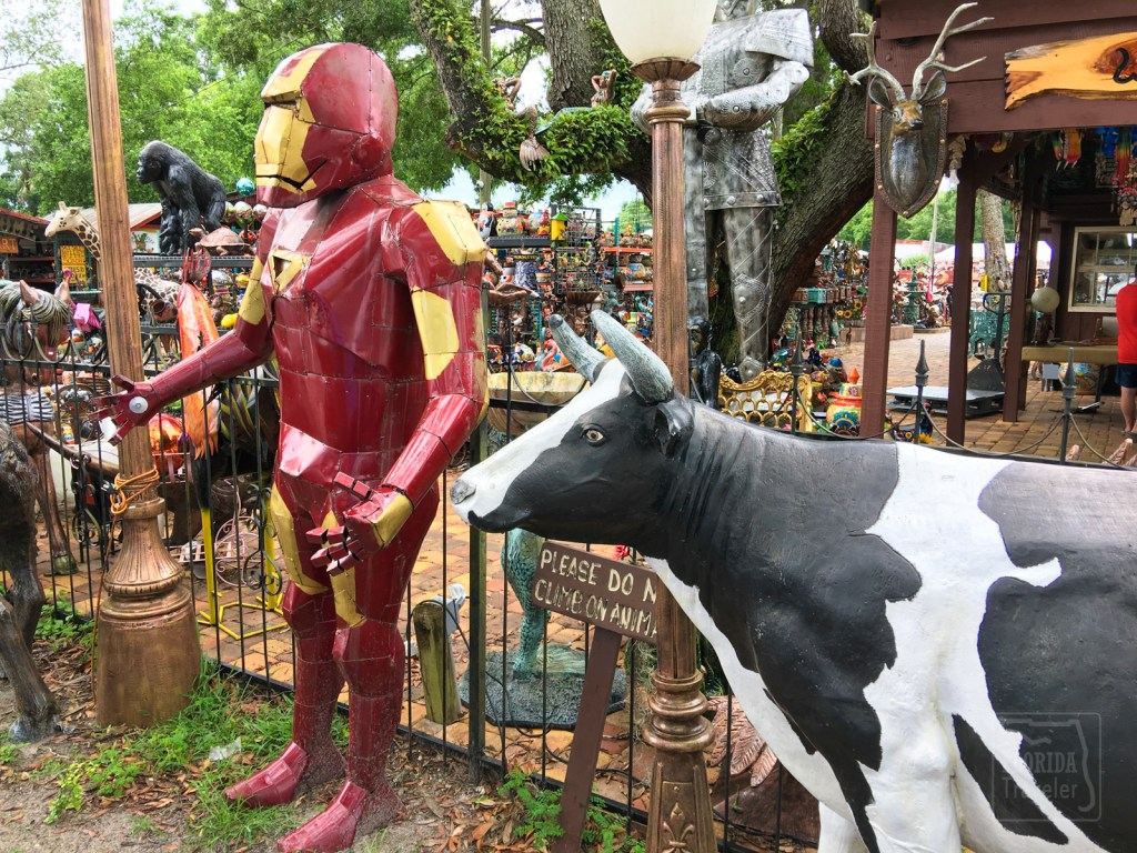 Iron Man and a Cast Aluminum Cow