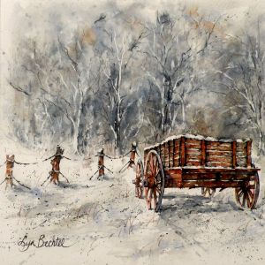 Betchel, Lyn - The Old Cart In The Snow