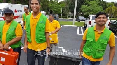 world mission society church of god, church of god, wmscog, church of god in volunteer, disaster relief, yellow shirts, volunteers, hurricane matthew