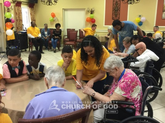 World Mission Society Church of God, wmscog, volunteerism, Christian, visit, Life Care Center of Altamonte Springs, Orlando, seniors, residents, Florida, FL