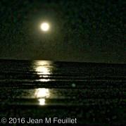 Une autre vue de la super lune sur New Smyrna Beach