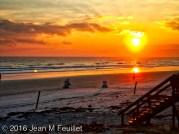 Lever du soleil sur la plage de New Smyrna Beach