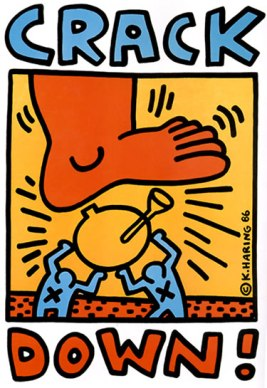 Crack Down!, 1986, Poster, 56*44 cm New York, The Keith Haring Foundation