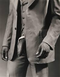Robert Mapplethorpe, Man in polyester suit (1980)