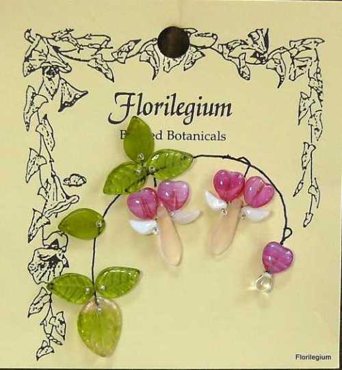 Bleeding Hearts Beaded Botanical