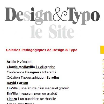 TypoGabor (link-ul mai jos) oferă o serie de resurse de studiu în designul grafic