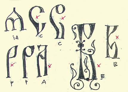 Primul caiet de schiţe - Arhaic Românesc - Florin Florea (detaliu)