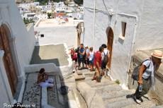 Lindos - Filmare pe stradutele spre acropole