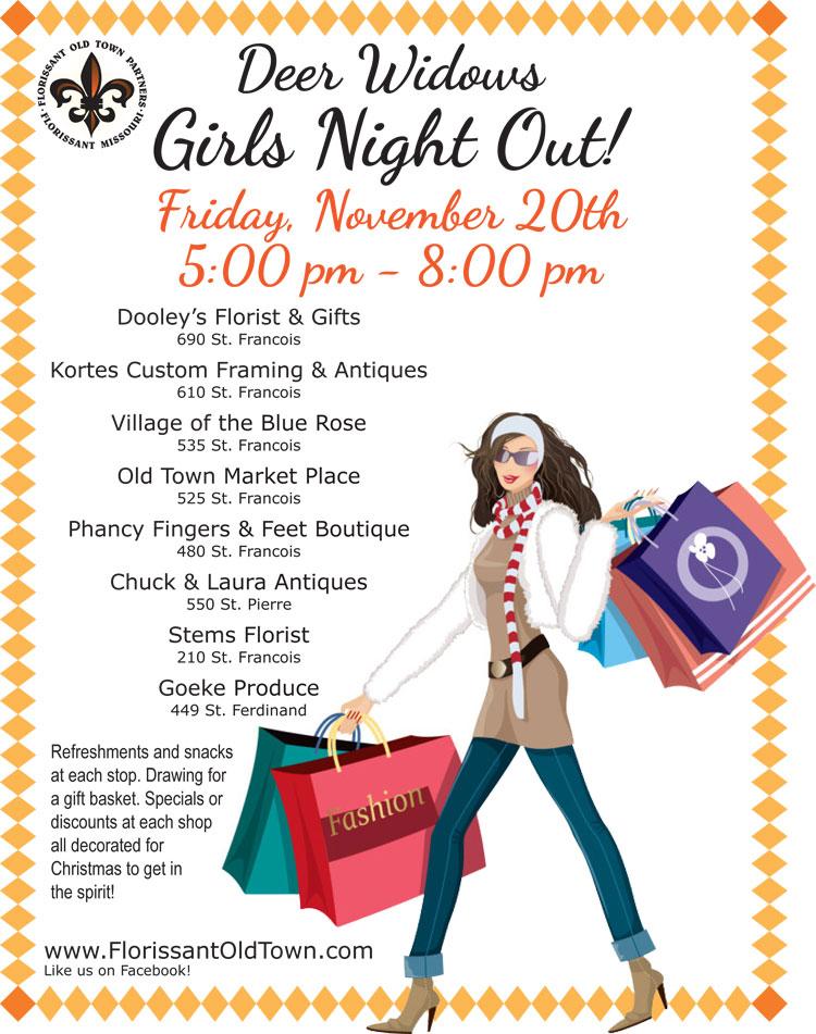 Deer Widows Girls Night Out | Florissant Old Town Partners