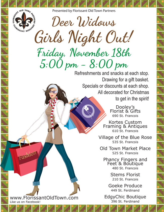 Deer Widows Girls Night Out – Nov. 18 | Florissant Old Town Partners