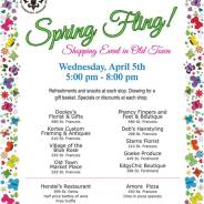 Spring Fling Shopping Event in Old Town on April 5