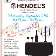 Wednesday Night Out at Hendel's – September 27