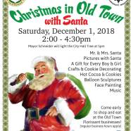 Christmas in Old Town with Santa – Dec. 1