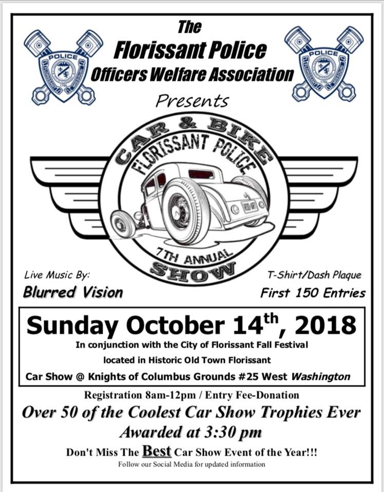 Florissant Police Car Bike Show Oct Florissant Old - Old town car show 2018