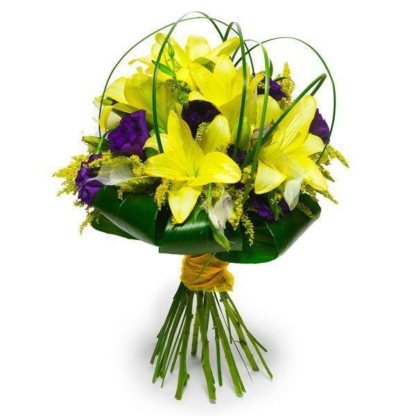 ramo-de-lilium-amarillos-con-tonos-lila