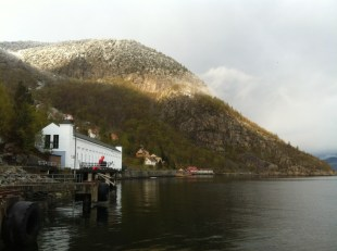 Flørli from the arrival pier