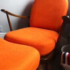 Tangerine Sofa Argos Small Black Leather Ercol Windsor Chair & Footstool – Nursery | Florrie+bill