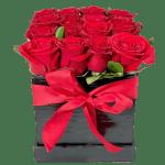 Caja de rosas rojas, Florerías en Tijuana, Arreglos Florales Tijuana, Cajas de rosas rojas - Envia flores a domicilio en Tijuana
