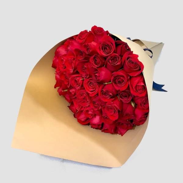 Diamante - Ramo de rosas rojas - Florerías en Tijuana, Arreglos Florales Tijuana