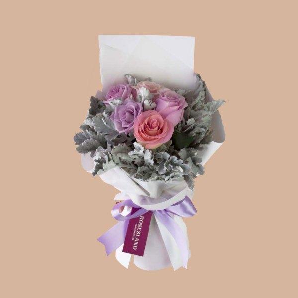 Amor infinito - Ramo de rosas pastel