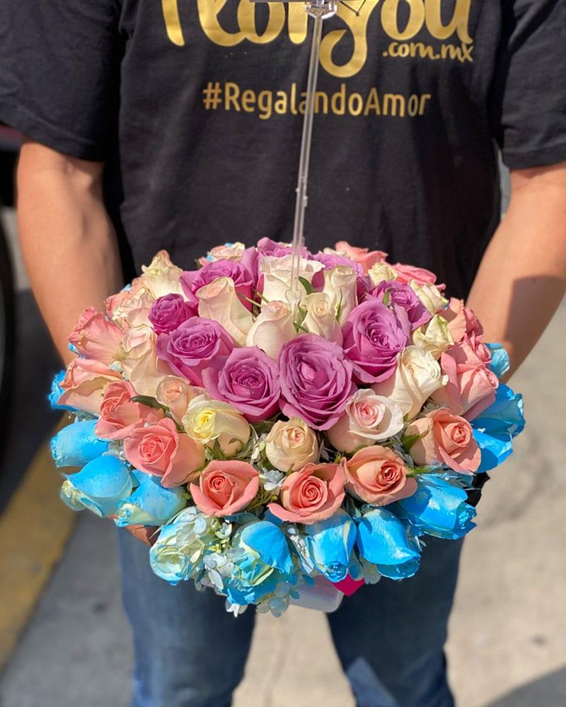 Caja de flores, florerías en Tijuana, Envío de flores en Tijuana