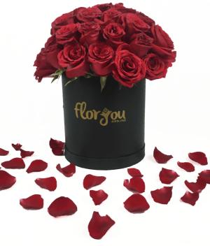 Caja de rosas mediana, Arreglo de flores Envía flores a domicilio en Tijuana