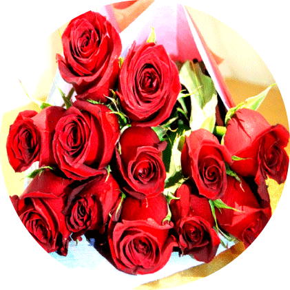 Ramo de doce rosas para arreglos florales Tijuana - Florerias en Tijuana
