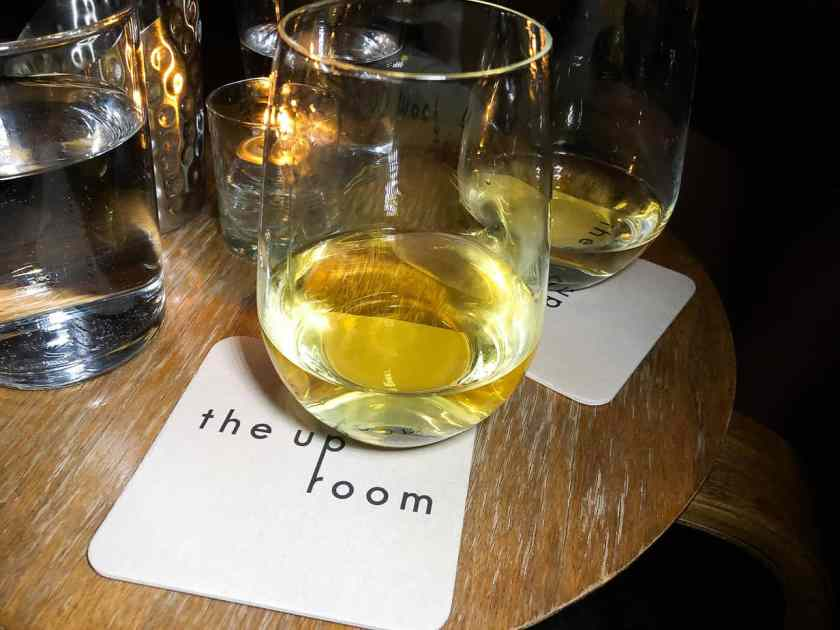 Wine at the Up Room cocktail lounge