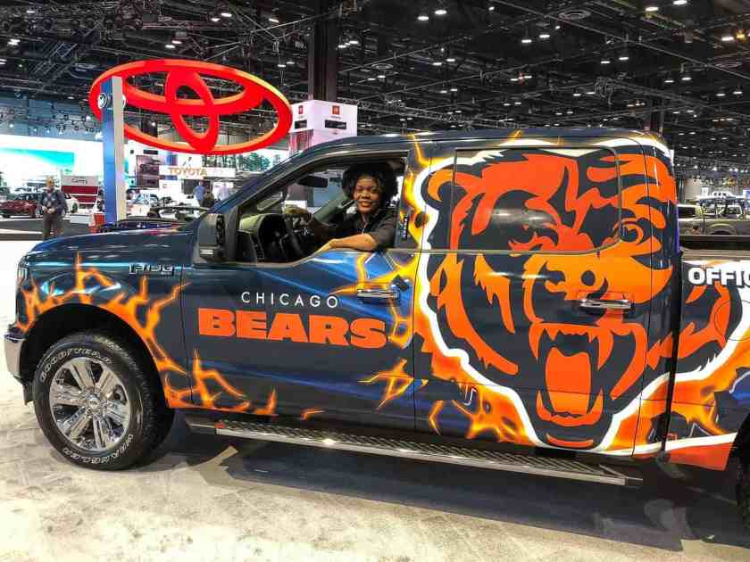 Ford F-150 Truck with Chicago Bears decal