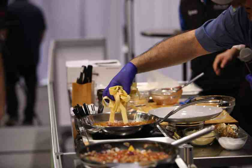 Chef pasta demonstration at the National Restaurant Association Show