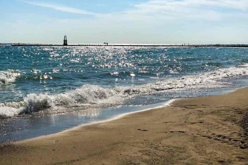 Lake Michigan and sandy beach