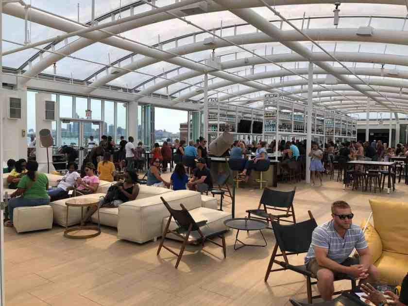 Interior of Navy Pier Rooftop Bar Offshore