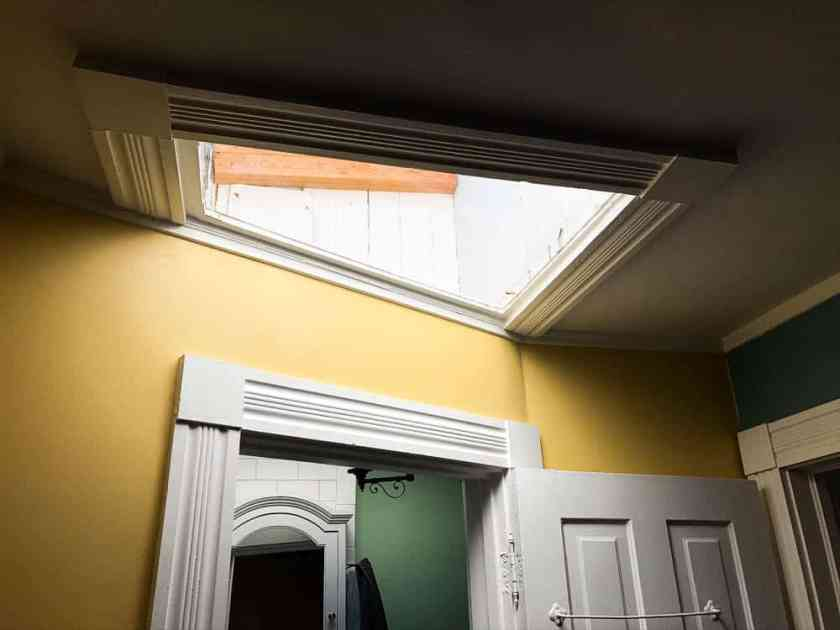 skylight in home in historic pullman