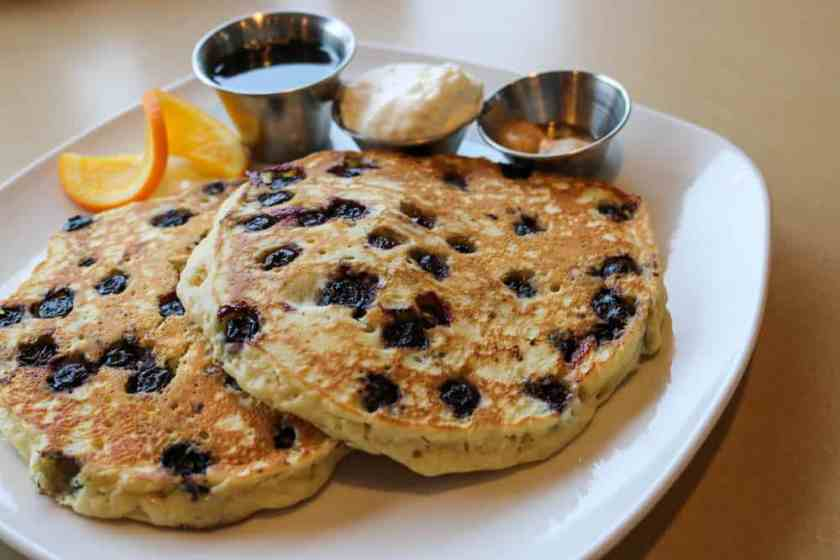 Blueberry pancakes at Third Coast Spice Cafe