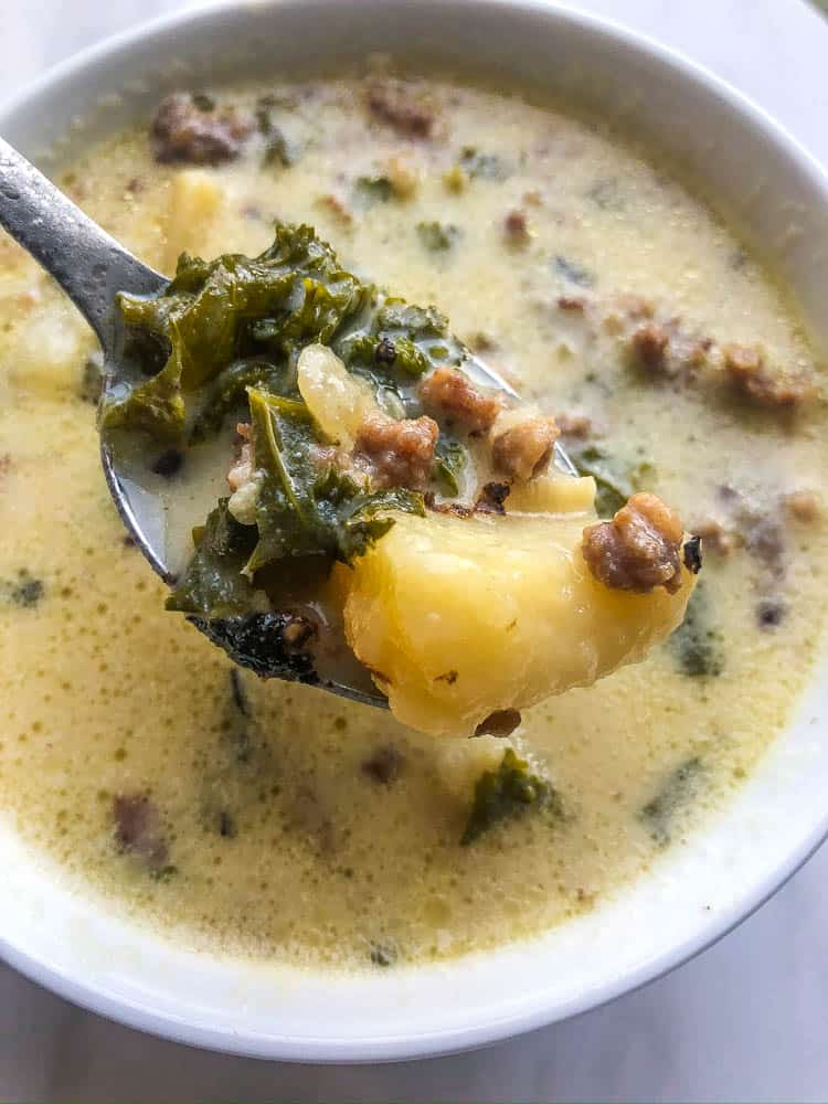 Olive Garden copycat recipe for Zuppa Toscana soup
