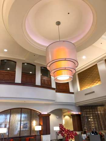 Chandelier in Drury Hotel Lobby in Carmel, Indiana