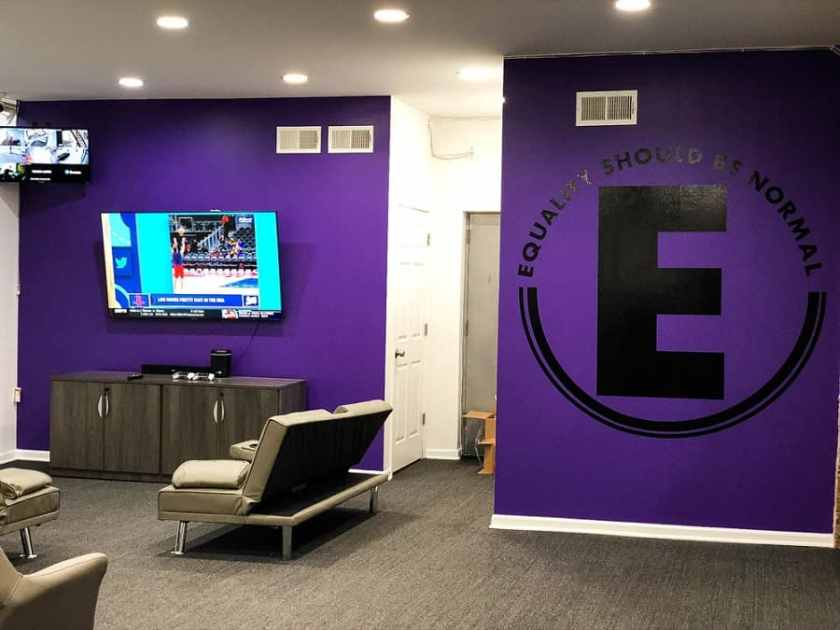 Game room with tv at Equality Should Be Normal