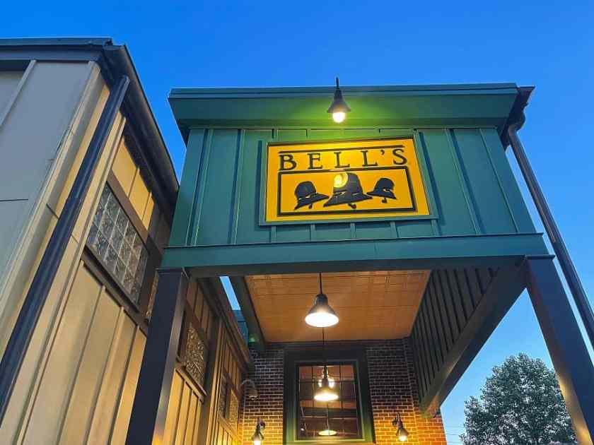 Bell's Brewery sign in kalamazoo, michigan