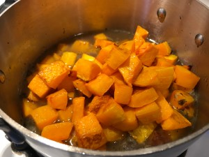 Roasted Butternut Squash Soup ready to blend