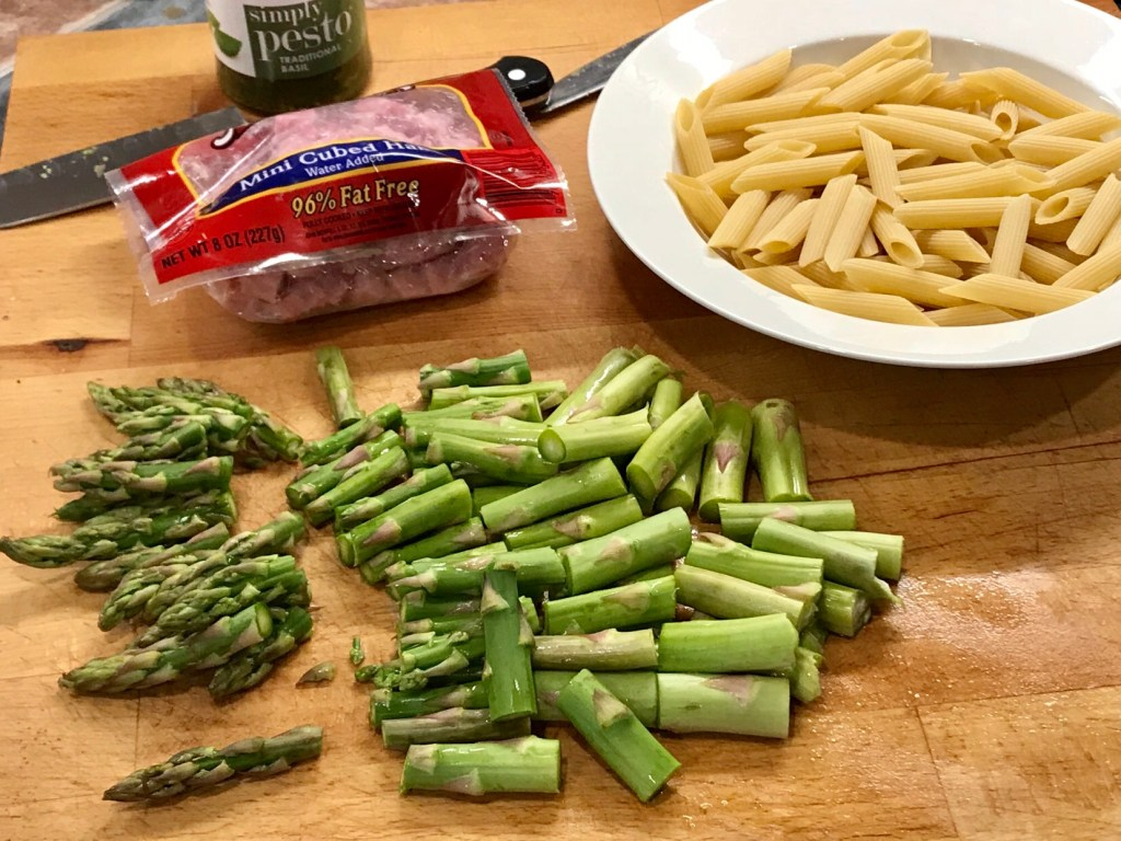Ingredients for Ham and Asparagus Pasta