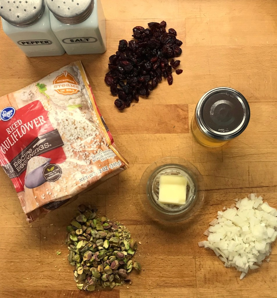 Cauliflower Pilaf Ingredients