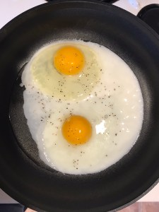 Over easy eggs