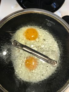 over easy eggs you don't flip