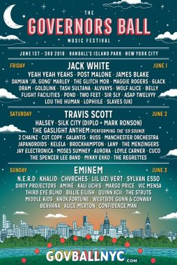 Governors Ball Announces 2018 Lineup