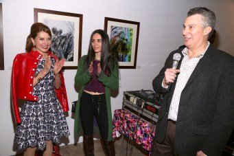 NEW YORK, NY - JANUARY 24: Elizabeth Shafiroff, Jean Shafiroff and Ted Barkhorn attend Global Strays Hosts Cocktails With Fine Art Photographer Ted Barkhorn at Novo Locale, 263 Bowery on January 24, 2019 in New York. (Photo by Sylvain Gaboury/PMC) *** Local Caption *** Elizabeth Shafiroff;Jean Shafiroff;Ted Barkhorn